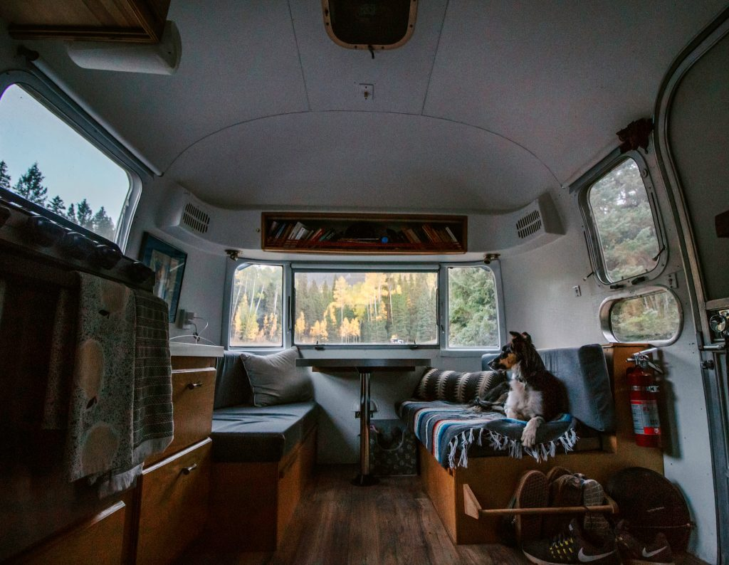 Airstream interior dinette fall